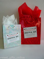 THE ONE I LOVE Valentines Day SURVIVAL KIT Novelty Present Humorous Gift Idea
