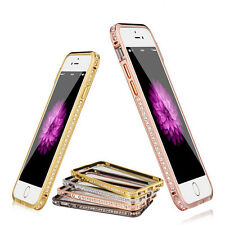 2015 Luxury Crystal Rhinestone Diamond Bling Metal Case Cover Bumper For iPhone