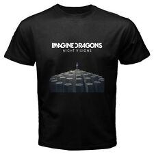 New IMAGINE DRAGONS *NIGHT VISIONS Rock Band Men's Black T-Shirt Size S to 3XL