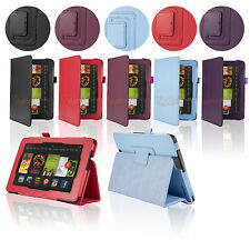 "For Amazon Kindle Fire HD 6"" 7"" inch HDX New Folio PU Leather Case Cover w/Stand"