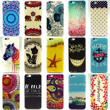 Slim Soft TPU Silicone Phone Back Painted Case Cover For iPhone 4S 5S 5C 6 6Plus