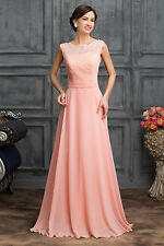 Long Chiffon Bridesmaid Prom Dress Evening Ceremony Cocktail Dresses Ball Gowns
