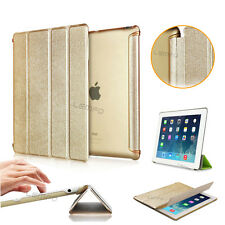 New Luxury Brush Smart Wake Hard Slim Cover Stand Case For iPad 2 3 4 iPad 5/Air