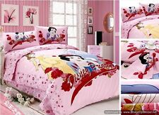 Twin Queen King Duvet Covers Comforter Sets 5Pc Cute Pink Princess Bed Linens