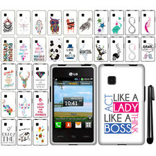 For LG 840G Art Design PATTERN HARD Protector Case Phone Cover + Pen
