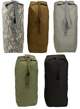 "Top Load Jumbo H.W. Cotton Canvas Shoulder Bag Military Duffle Bag 25"" x 42"" #1"