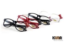 Cute Hello Kitty Horn Rimmed Style Clear Lens Glasses with Rhinestones