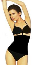 NEW WOMEN'S PRIMA VALENTINA SHAPEWEAR SEAMLESS WAIST NIPPER GIRDLE BLACK 78606T