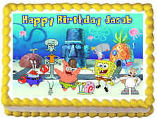 SPONGEBOB Birthday Image Edible Cake topper