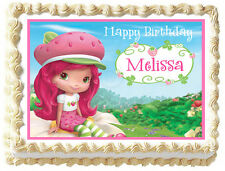 STRAWBERRY Shortcake Party Edible image Cake topper decoration