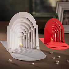 Classic Three-dimensional Church Wedding Invitations Cards And Envelopes, Seals