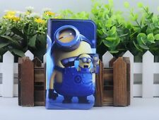Cartoon Minions Despicable me PU Leather Flip Case Cover For LG Google Mobile 01