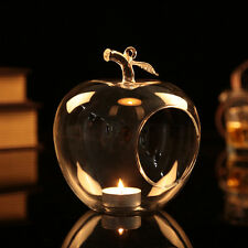 Clear Glass Apple Tealight Holder Hanging Table Vase landscape Wedding Party