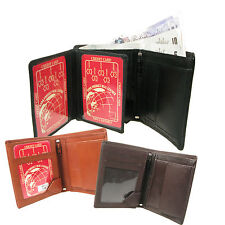 New High Quality Mens Real Leather Credit Card/ID/Note Space Holder Wallet 861