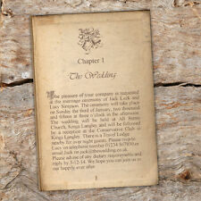 Vintage Story Book Page Wedding Invitations- Literary Wedding Double sided avail
