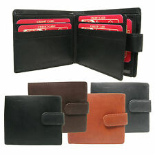Mens Geniune Real Leather Wallet Credit Card Holder,Photo Holder,Coin Pouch 867