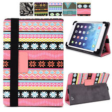 """C Tribal Canvas Adjustable Folding Folio Cover & Touch Guard fits 9.7"""" Tablet-s"""