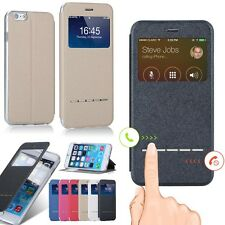 Smart Window View Flip PU Leather Case Cover For Samsung Galaxy Various Phone