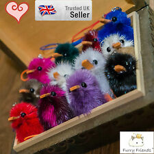 3 FOR 2! SALE Soft Keyring Fur Gift Cute Duck Chick Charm Women Keychain Present