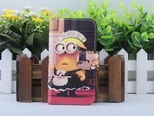 Hot Cartoon Minions Despicable me PU Leather Flip Case Cover For HTC Mobile 02