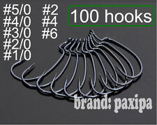 100 Wide Gap Worm Hook Jig Fishing Crank Hook for soft bait #1 to #6 #1/0 to#5/0
