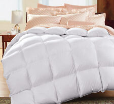 All Season 1200 Thread Count 100% Natural Down Comforter 750FP, Solid White