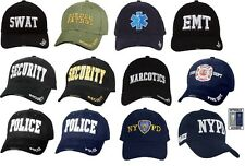 Deluxe Embroidery Law Enforcement & EMS Logo Adjustable Hat Cap