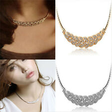 Hot Jewelry Pendant Chain Crystal Choker Chunky Statement Charm Bib Necklace