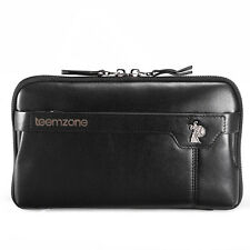 Men's Genuine Leather Business Clutch Wrist Bag Handbag Briefcase Wallet