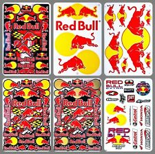 Red Energy Drink Bull Beverage Vinyl Sticker Car Decal Extreme X Fighter Racing