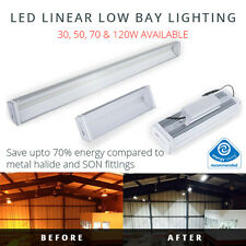LED LINEAR LOW BAY LIGHT 30W - 120W REPLACEMENTS FOR METAL HALIDE OR SON 240V