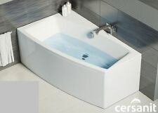 Offset Corner Bath *VIRGO* SPACE SAVER 1400 x 900mm with Front Panel and Legs