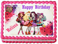 EVER AFTER HIGH Birthday Edible image Cake topper design