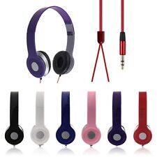 New For Phone Laptop PC Tablet MP3 MP4 3.5mm Headphone Earphone Headset Stereo