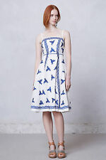 NIP $168 Anthropologie Lidia Embroidered Dress by Moulinette Soeurs 12