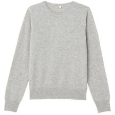 Authentic Muji WOMEN Cashmere crew neck sweater Japan Free-shipping 37454996