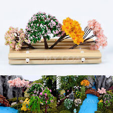 Miniature Sakura Tree Plants Fairy Garden Accessories Dollhouse Ornament Decor