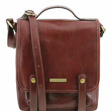 TUSCANY LEATHER shoulder bag with front straps made in Italy