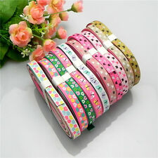 """20yards 3/8"""" mixed 10 Style sewing satin grosgrain ribbon lot wholesale A  39"""