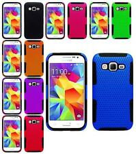 Mesh Hybrid Soft Case Cover Skin For Samsung Galaxy Core Prime and Prevail LTE