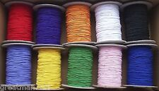 1mm ROUND ELASTIC  BEADING HAT ELASTIC  - 11 COLOURS - 1 TO 10 METRES