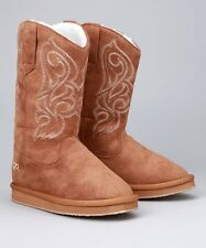 DINGO Kid's Youth Girls Brown Suede Leather Soft Fleece Lined Boots DIC2312 NIB