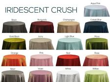 IRIDESCENT CRUSH TABLECLOTHS 120 90 ALL COLORS WEDDING SPRING EASTER ST PATRICKS