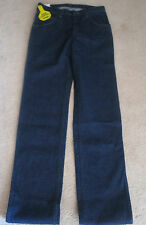 NEW w/tags WRANGLER Cowboy Cut reg-slim-org fit jeans dark blue denim over boots