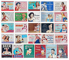 Funny Metal Tin Wall Plaque Sign. Vintage Retro 1950's Shabby Chic Designs.
