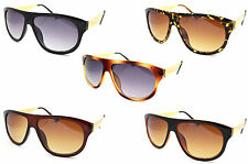 New Flat top Square Wrap Around Frame Designer Style Sunglasses UV Ray 400 Bold