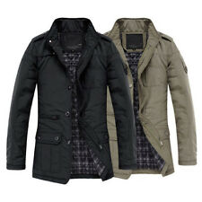 New style Men's Jacket Coat Slim Clothes Winter Warm Overcoat Casual Outerwear
