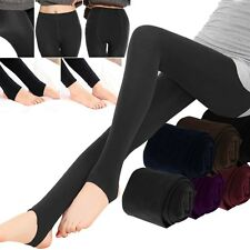 Women Ladies Winter Warm Thick Stirrup Slim Full Length Leggings Foot Tight