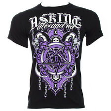 Official Asking Alexandria Unisex Black Demonic T Shirt ALL SIZES - Band Merch