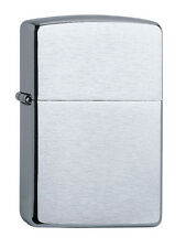 Zippo Lighter Chrome Brushed with Free Text and Logo Engraving